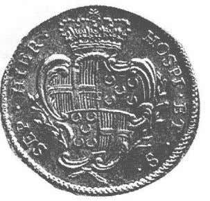 silver coin of 1790 ) but disappeared in the 19th century. The arms of the Grand-Master