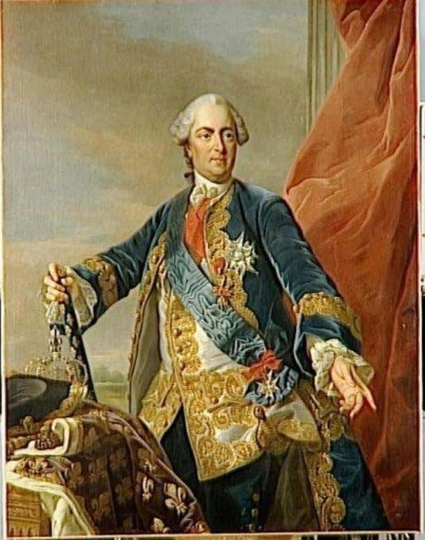 Portrait of Louis XV by Carle Van Loo; he wears the insignia of the Saint-Esprit