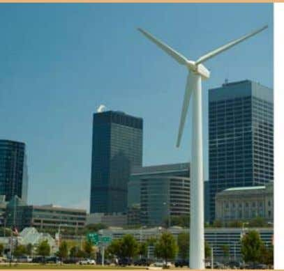 distribution of wind power throughout California shows A 225-kilowatt windmill in Cleveland, Ohio is the first