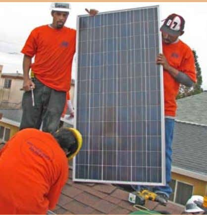 could be a large economic opportunity to strengthen Trainees at Solar Richmond install a solar PV