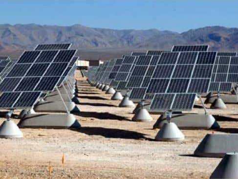 of the potential benefits compared to the potential harm. A 14-megawatt desert solar PV project at