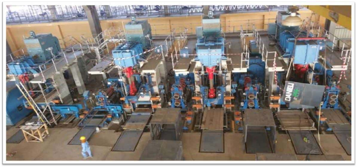 Rolling Mill 1.4 MTPA Rebar Mill • Total Project Cost: USD 190 million • Expected to