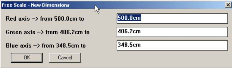 the directions allowed by the type of handle you selected. 3 Unlike native Sketchup Scale tool,