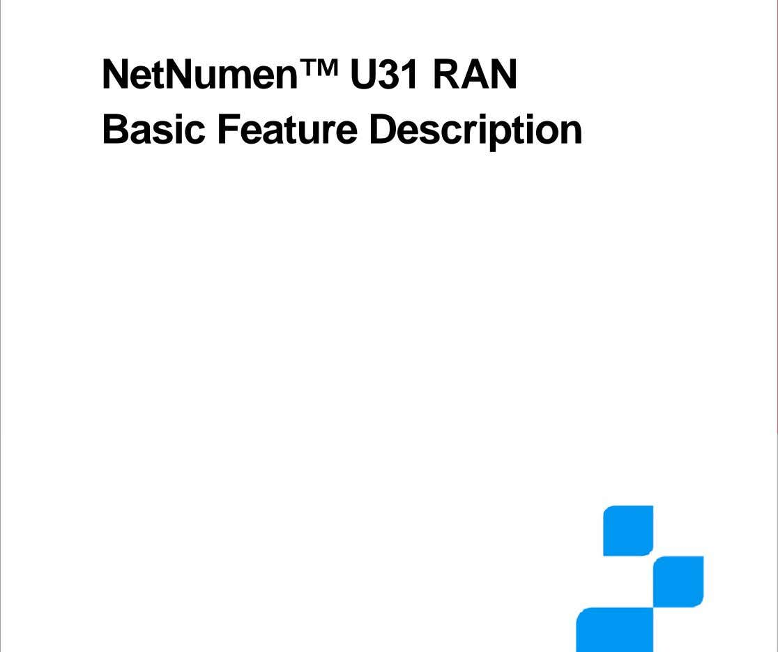 NetNumen™ U31 RAN Basic Feature Description