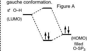 gauche conformation. Figure A s* O–H (LUMO) (HOMO) filled O-SP 3