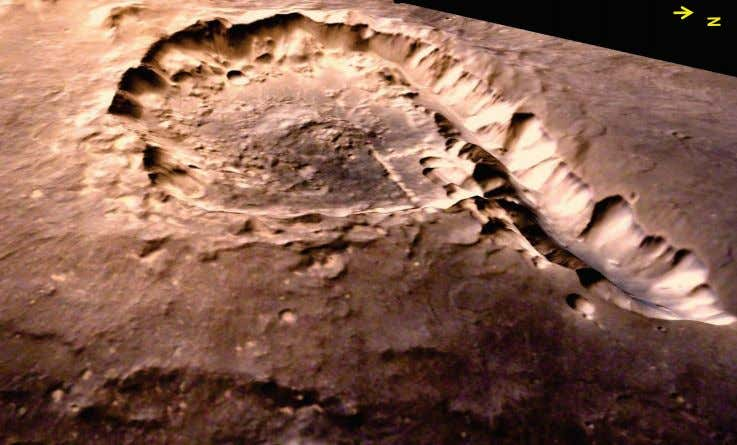 and chain of small impact craters are clearly seen in this image. 30 Three dimensional perspective