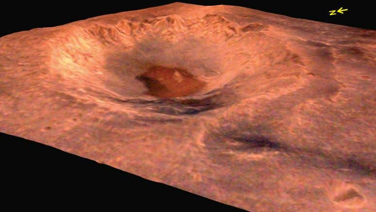 crater have different composition which can be seen in this image. 34 Three dimensional perspective view