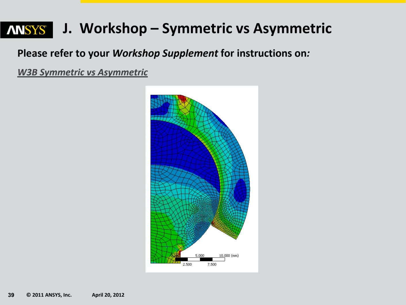 J. Workshop – Symmetric vs Asymmetric Please refer to your Workshop Supplement for instructions on