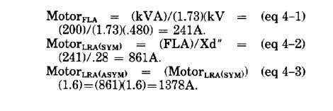 amperes (LRA) as shown in equations 4-1, 4-2, and 4-3. (2) Determine maximum and minimum short-