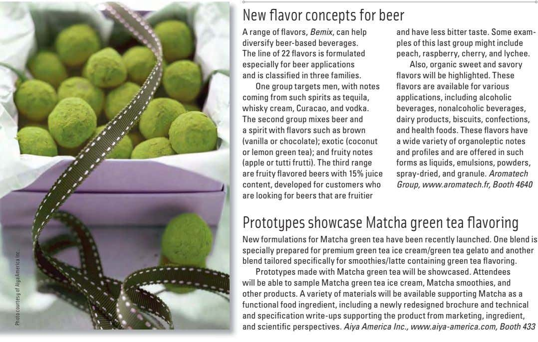 New fl avor concepts for beer A range of fl avors, Bemix , can help diversify