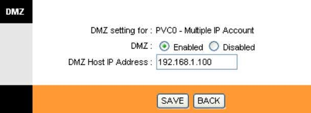 TD-8840T ADSL2+ Modem Router User Guide Figure 4-16 DMZ Host IP Address: Enter the specified IP