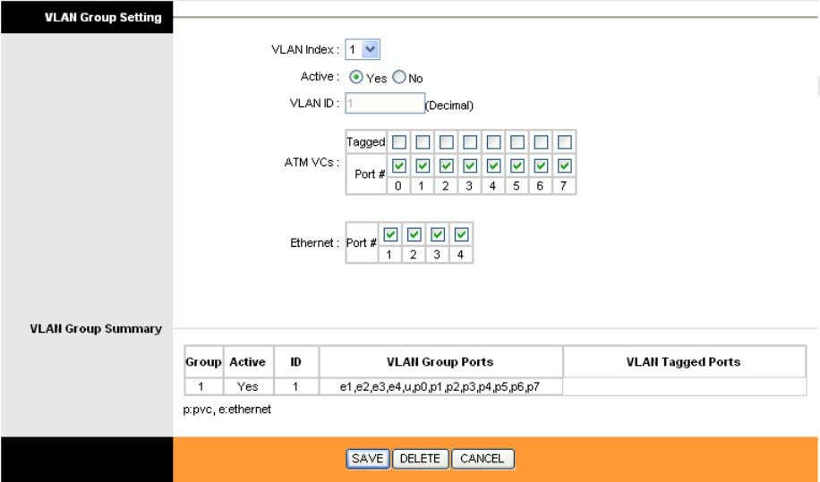 VLAN groups in the next screen (shown in Figure 4-23). Figure 4-23 VLAN Index: Select the