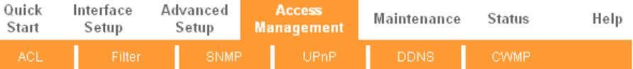 """ Access Management "", you can see t he next submenus: Figure 4-26 Click any of"