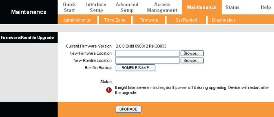 and locate the firmware or romfile to be used for upgrade. Figure 4-41 To upgrade the