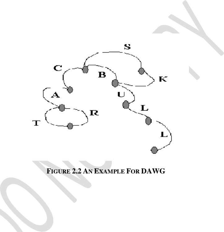 FIGURE 2.2 AN EXAMPLE FOR DAWG