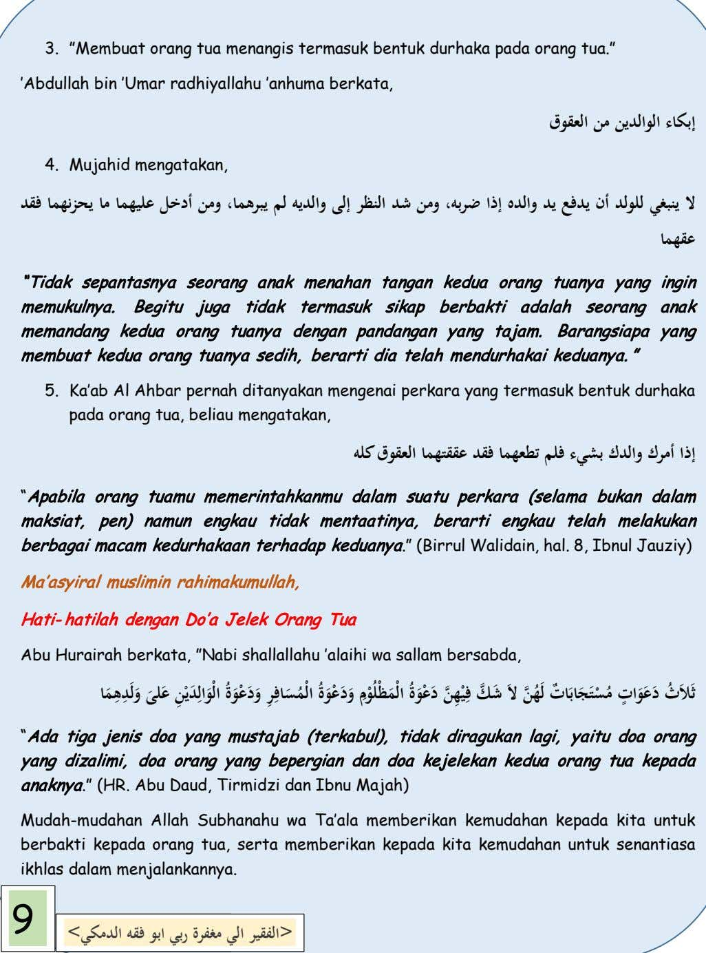 "[Grab your reader's attention with a great quote from the document 3. ""Membuat orang tua"
