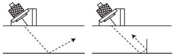 to as a corner trap, as seen in the illustration below. The angled sound beam is