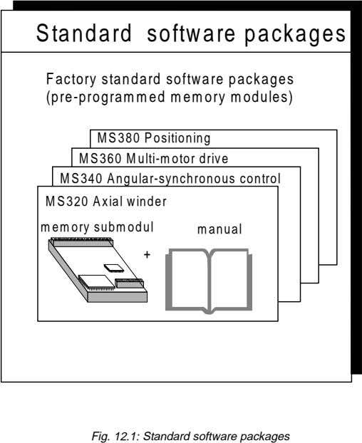 Standard software packages Factory standard software packages (pre-programmed memory modules) MS380 Positioning MS360