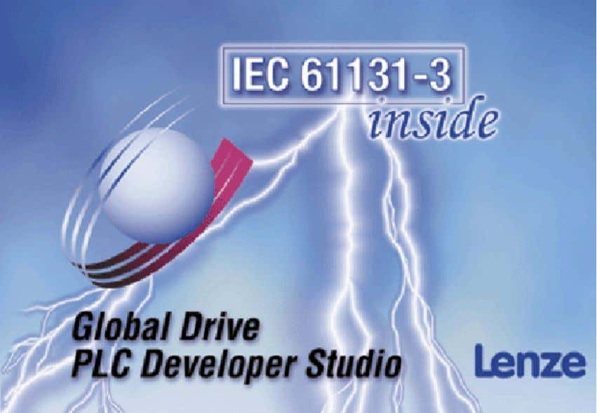 EDBDDS-DEEN L Handbuch/Manual Global Drive Drive PLC Developer Studio Erste Schritte/Getting Started