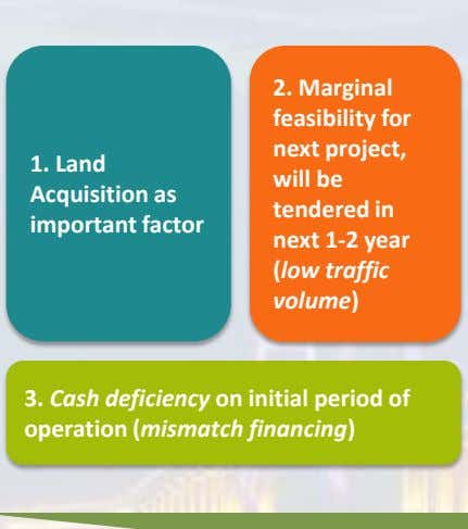 2. Marginal feasibility for next project, 1. Land will be Acquisition as important factor tendered