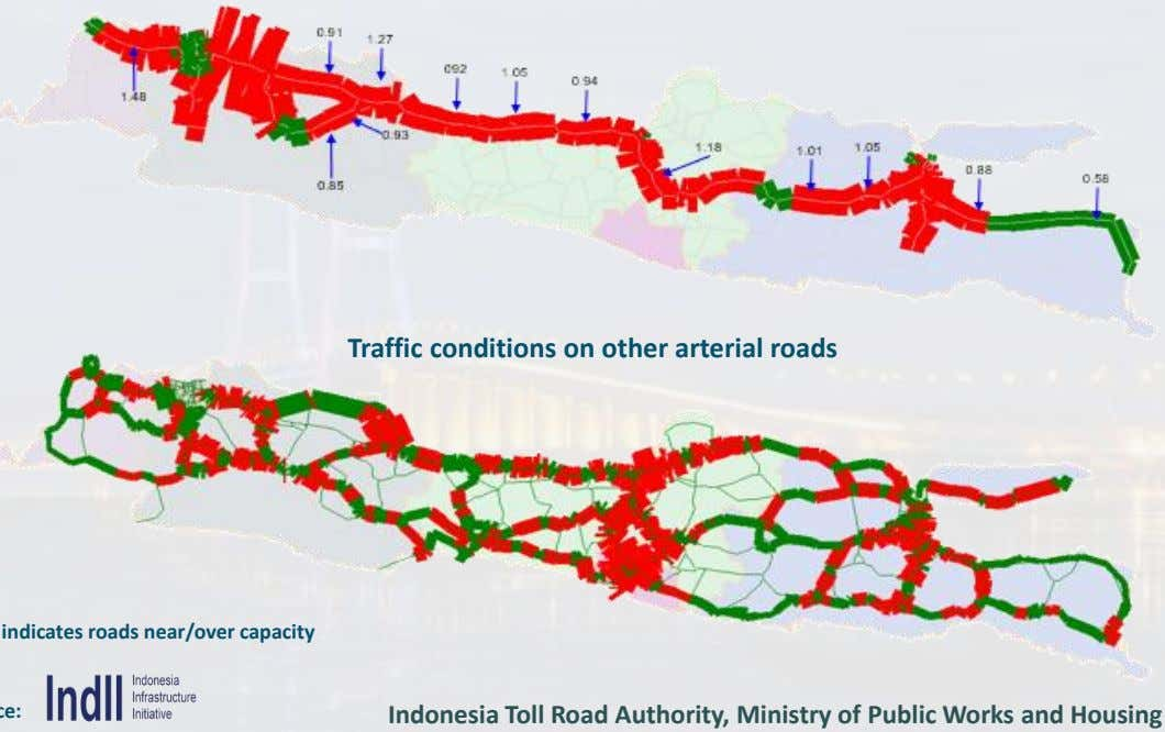 Traffic conditions on other arterial roads Indonesia Toll Road Authority, Ministry of Public Works and