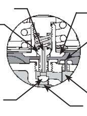PASSAGE IN VALVE PLUG STEM UPPER PORTION OF VALVE PLUG D I A P H R