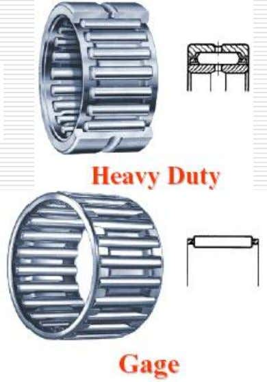 Roller bearings: Needle Bearings • Needle bearings have very high load ratings and require less space.
