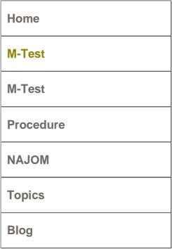 Home M-Test M-Test Procedure NAJOM Topics Blog