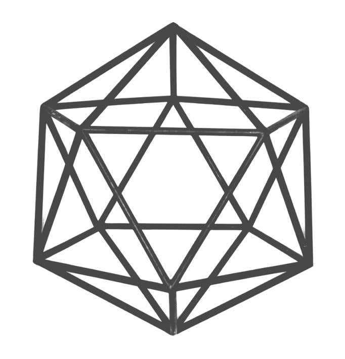 crystals have Icosahedral symmetry With: 6 five-fold exes 10 three-fold axes and 15 two-fold axes The
