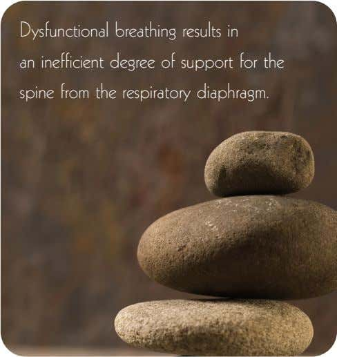 Dysfunctional breathing results in an inefficient degree of support for the spine from the respiratory