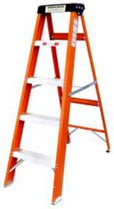 Fiber Glass Step Ladder EN131 BENEFITS • Electrical Shock Proof • Rust & Water Proof •