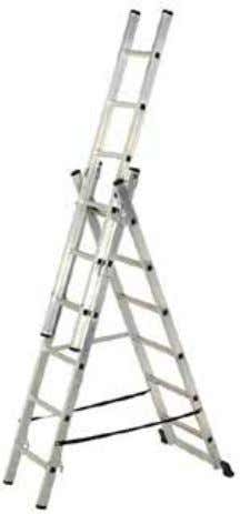 Combi Ladder EN131 BENEFITS • Combines a stepladder, extension ladder, extending stepladder and stairway ladder all
