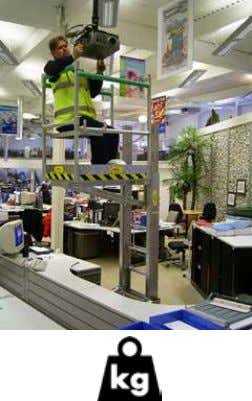 the Desksurfer provides plenty of clearance for desk items 150 kg Teleguard EN131 150 kg BENEFITS