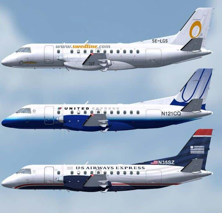 Swedline United Express US Airways Express New Colors General FFS Saab 340 POH version 1.0 Page