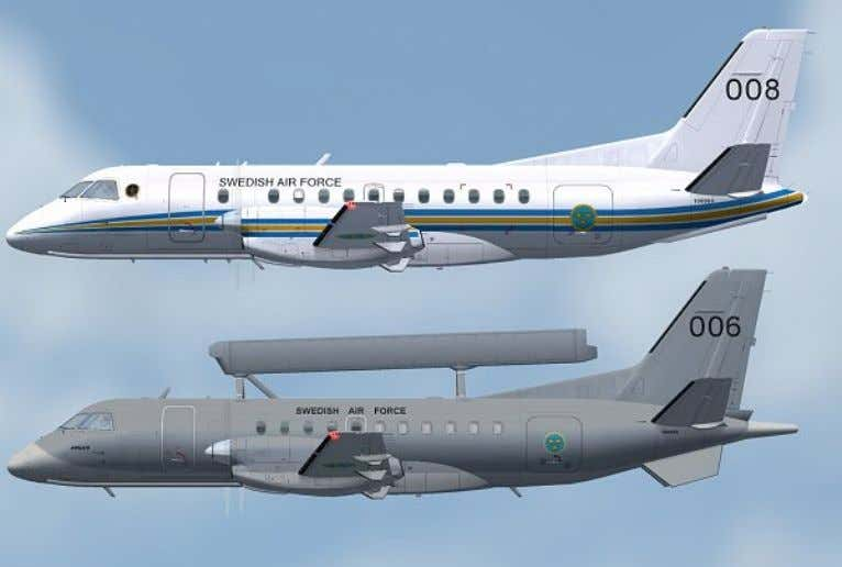Force Saab 340 Argus and 340B Liveries Swedish Air Force Swedish Air Force Argus FFS Saab