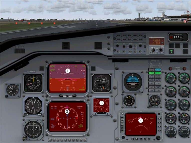 Pilot In Command IFR View Hotspots 2D Instrument Panel Views 1. Toggle pilot in command EADI