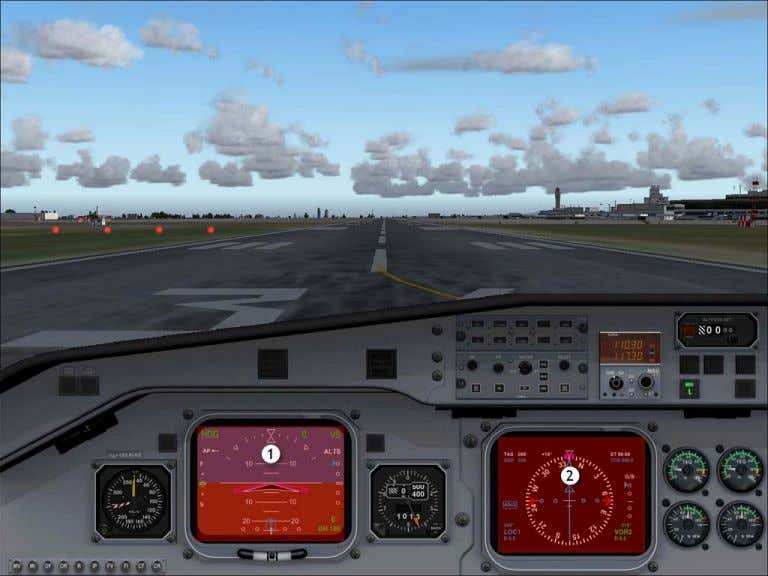 Pilot In Command VFR Hotspots 2D Instrument Panel Views 1. Toggle pilot in command EADI pop-up