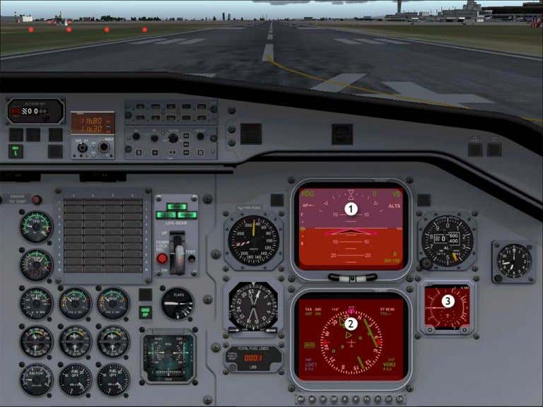 First Officers IFR View Hotspots 2D Instrument Panel Views 1. Toggle first officers EADI pop-up 2.