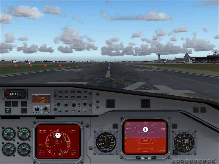 First Officers VFR View Hotspots 2D Instrument Panel Views 1. Toggle first officers EHSI pop-up 2.