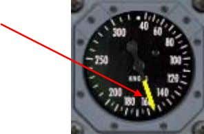 electrical power to operate. Indicated Airsp eed Pointer Indicated Airspeed Pointer Indicates the current aircraft