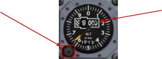 does not require electrical power to operate. Baroset Knob Altitude Indication Altitude Indication Shows aircraft