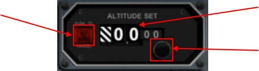 approached or deviated from. Altitude Alert Buttonli g ht Selected Altitude Display Altitude Set Knob Altitude
