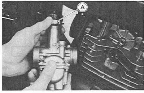 out the carburetor. -Unscrew and remove the carburetor cap. A. Carburetor Cap Carburetor Installation Notes eAlign