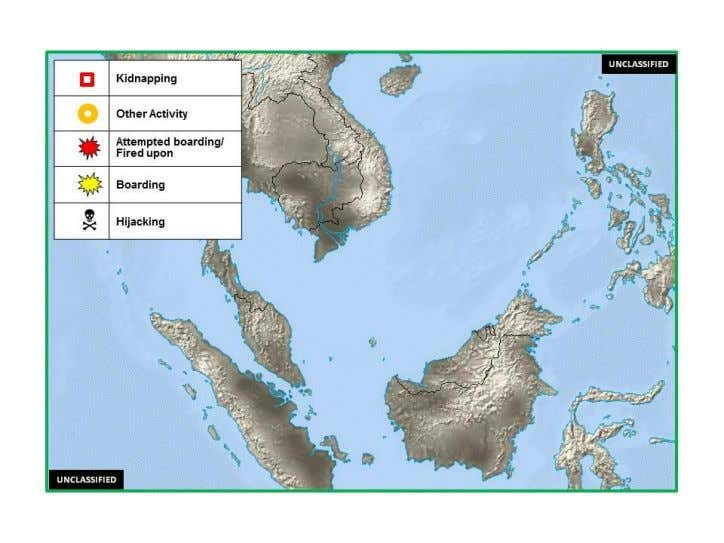 No incidents to report. B. (U) Incident Disposition (U) Figure 4. Southeast Asia Maritime Crime Activity,