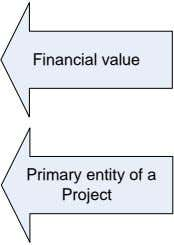 Financial value Primary entity of a Project