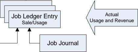 Job Ledger Entry Actual Usage and Revenue Sale/Usage Job Journal