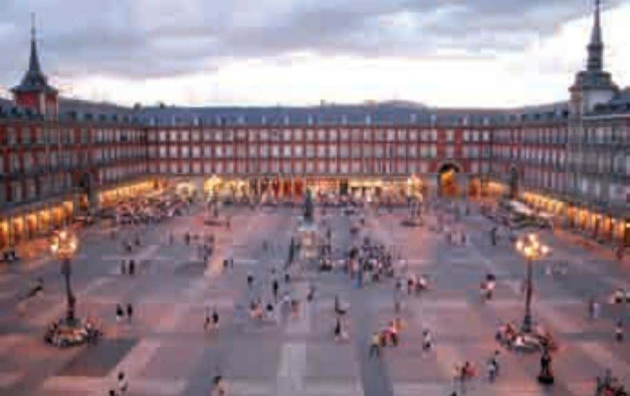 point of the nine that you will find in the Plaza Mayor. primavera - spring -