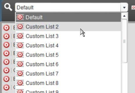 the Action List drop-down box, select Custom Action List 2: When you do this, the Action