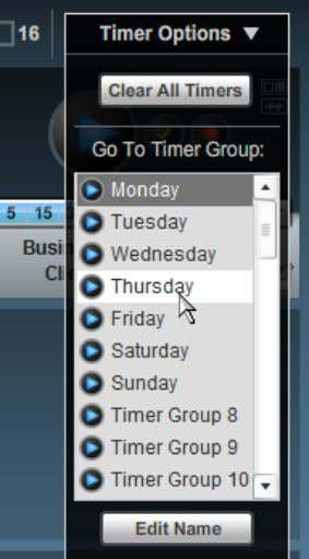 then select the Timer Group from the list that appears: At the bottom of the Timer