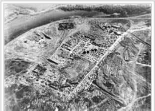 Site of the Khazar fortress at Sarkel (aerial photo from excavations conducted by Mikhail Artamonov
